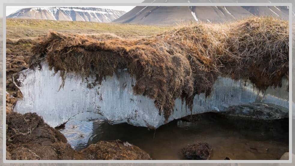 Photos de la fonte de méthane en Norvège