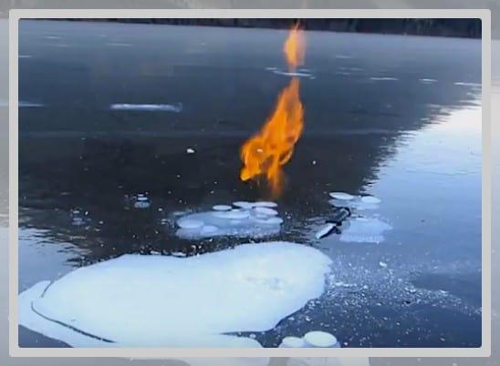 Photo du méthane en feu