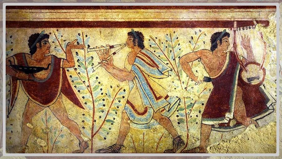 Dessin de musiciens Etrusques