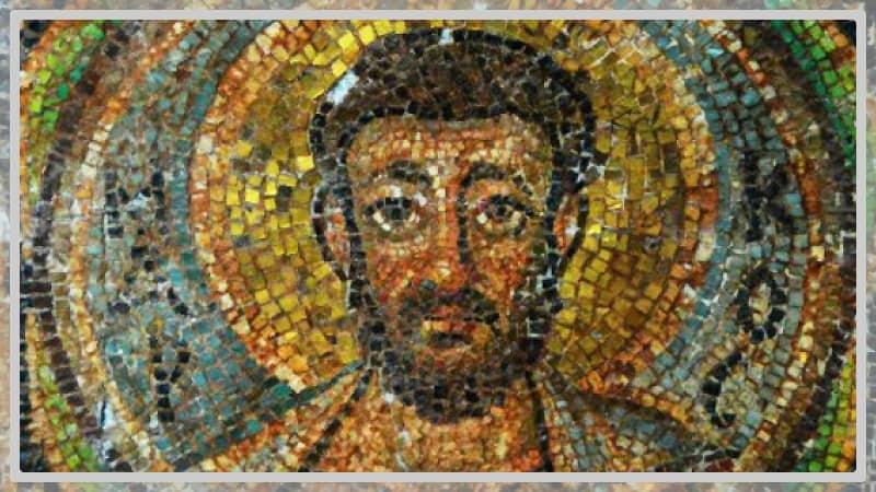 Photo d'une mosaïque byzantine Saint Marc 6e siècle